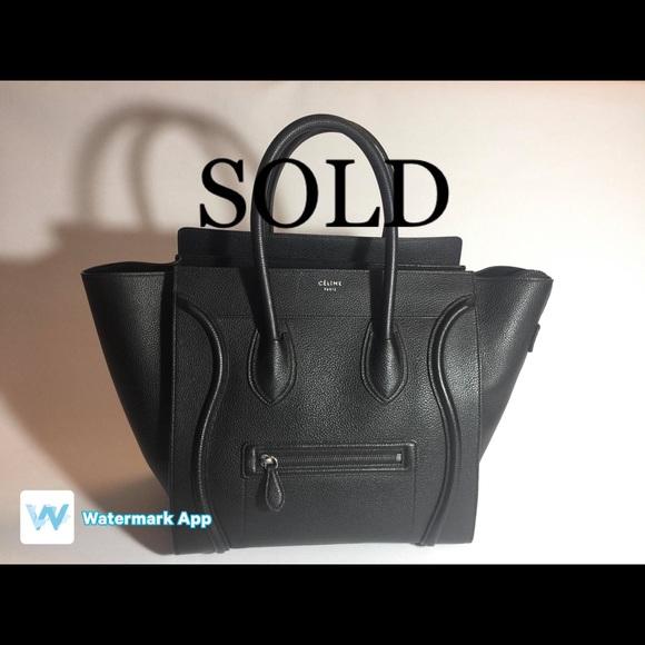 Celine Handbags - Celine Medium Luggage Tote Bag
